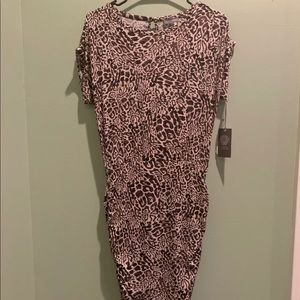 NWT Vince Camuto Leopard Bodycon Dress Size XS